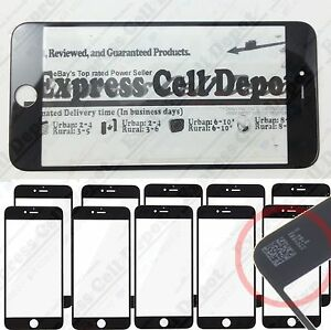 10X Wholesale Lot replacement front lcd outer screen glass for BLACK iPhone 6/6S