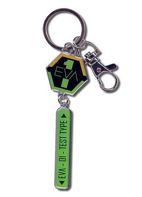 **Legit** Evangelion Metal Keychain EVA Nerv Unit 01 Insignia Test Type #5044