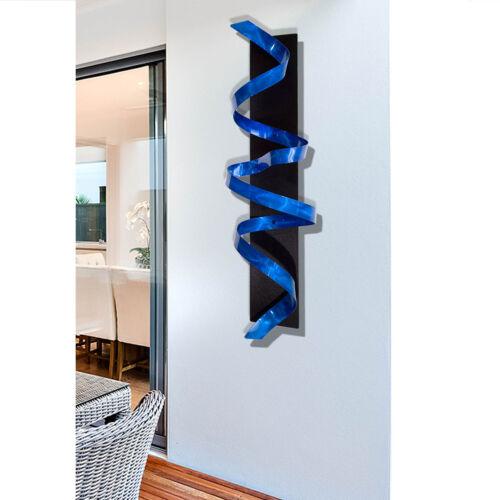 Statements2000 Abstract 3D Metal Wall Sculpture Decor by Jon Allen Blue Knight