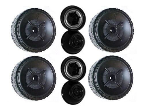 Power Wheels L6349 Barbie Ford Mustang Replacement Left & Right Wheels- 4 Pack