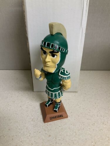 """University Of Michigan State Spartans Mascot /""""Sparty/"""" Bobblehead MU Spartans!"""