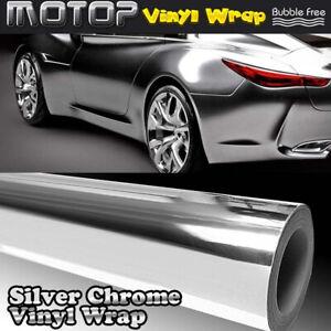 Argent-Chrome-Miroir-Vinyle-Wrap-Film-Autocollant-Voiture-Decalque-avec-bulle-d-039-air-A-faire-soi