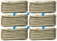 (6) Gold/white Double Braid 5/8 X 25' Boat Marine Hq Dock Lines Mooring Ropes