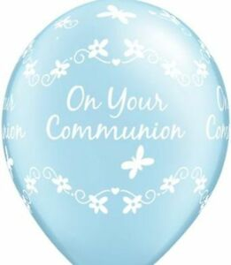 Beautiful-Communion-Balloons-x-5-choice-of-blue-or-pink