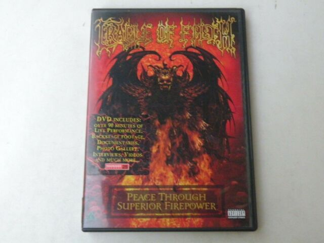 CRADLE OF FILTH - PEACE THROUGH SUPERIOR FIREPOWER - DVD 2005 - MINT - IT