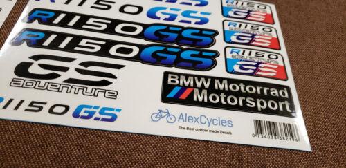 BMW Motorrad Motorsport R1150GS Adventure Blue Laminated Decals Stickers Kit