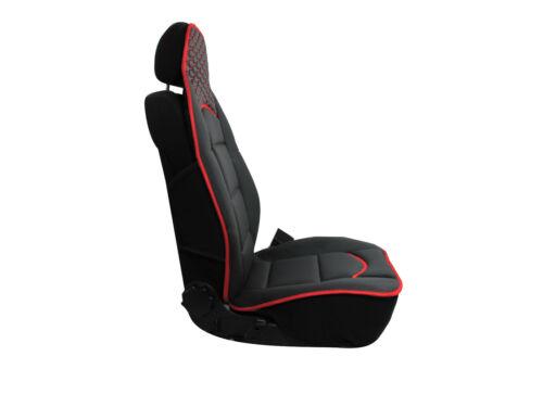 tessuto nero 2x Cuscino cuscini sedile Tappetini schiena cuscino ecopelle