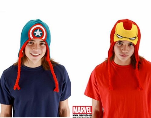 Avengers Winter Hat CAPTAIN AMERICA or IRON MAN Knit Laplander Marvel
