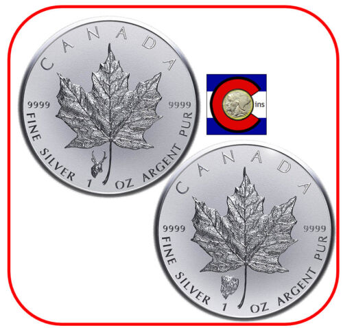 2018 Canada 1oz Silver Antelope /& Bison Reverse Proof Privy Coins in capsules