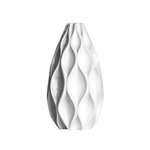 45 x 24 x 24 cm-Blanc-cm Premier Housewares Gaufre brillant vase