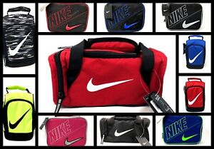 41ddeb2a4c Nike Kids Insulated School Lunch Box Tote Bag Duffel Swoosh Logo Red ...
