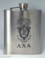 Lambda Chi Alpha, Λχα, Engraved Crest Beverage Container Stainless Steel 7 Oz