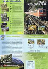 BRD 2012: Mittenwaldbahn! Erinnerungsblatt Nr 2951 plus Parallelausgabe! 1A 1705
