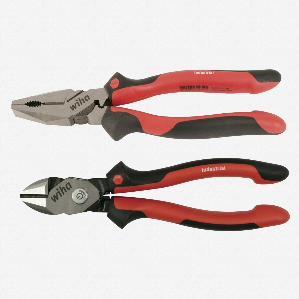 Wiha 30941 Industrial Soft Grip Pliers 2 for 1 Lineman's + BiCut