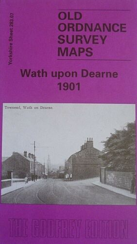 OLD Ordnance Survey Maps Wath upon Dearne Yorkshire 1901 Godfrey Edition New