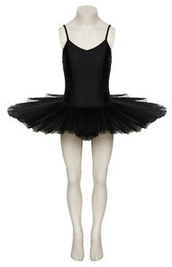 Negro-Frente-Liso-BAILE-Tutu-Ballet-Leotardo-Todas-las-tallas-de-Katz-Ropa-Danza