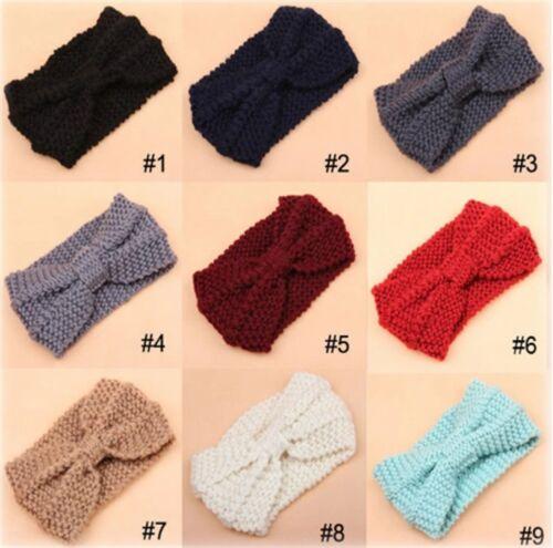 12 Farben zur Wahl Breites Damen Winter Haarband Knoten STRICK warm Stirnband