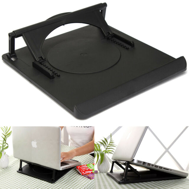 Laptop Holder Cooling 360° Rotation Stand Mount Notebook Table Desk Swivel Tray