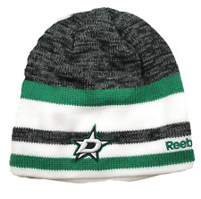 aeb43664b36 Dallas Stars Reebok KR67Z NHL Team Logo Striped Hockey Knit Hat Beanie Toque