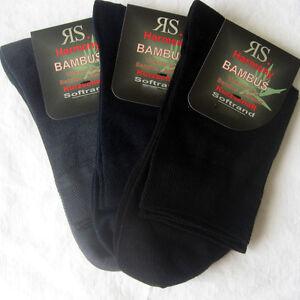 3 Paar Damen Kurzschaft Bambus Socken ohne Gummi  schwarz blau grau 35 bis 42