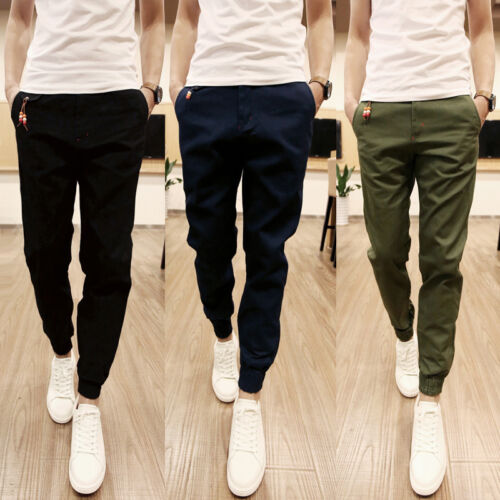 Korean-Mens-Trousers-Casual-Jogger-Sportwear-Baggy-Harem-Pencil-Pants-Jeans