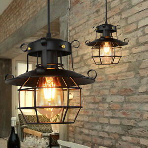 Vintage-Industrial-Style-Metal-Fishermans-Cage-Ceiling-Pendant-Light-Lamp-Shades
