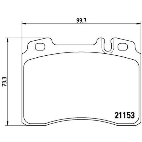 1 conjunto de guarnición freno de discos Brembo p 50 010 adecuado para Mercedes-Benz