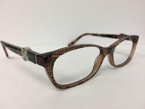 5b2cf3ce1cfc Image is loading Authentic-Versace-MOD-3164-991-Lizard-Brown-Eyeglasses-