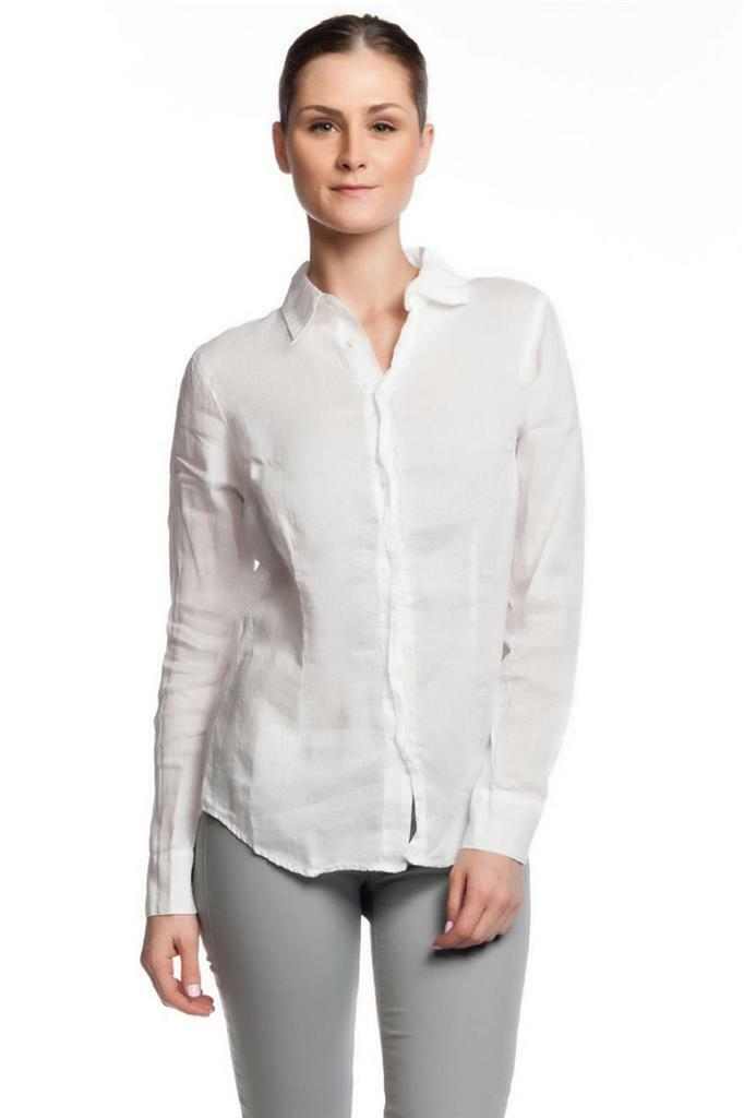 CP Shades Marissa Basic Shirt Weiß buttons pleat Long sleeve NEW Shirt Designer