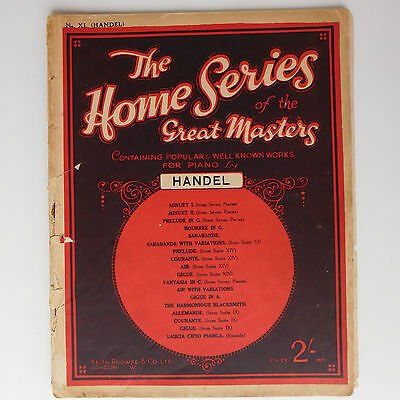 Home Series of Great Masters HANDEL 1930s sheet music book piano pieces TATTY