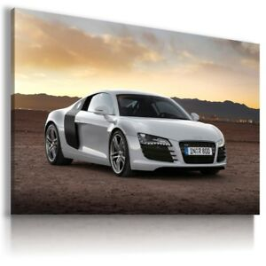Image Is Loading Audi R8 White Sport Cars Large Wall Canvas