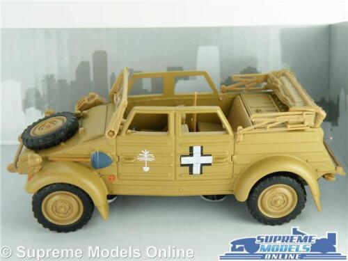 Volkswagen VW KUBEL WAGEN Type 82 Voiture Modèle Échelle 1:43 sable CARARAMA Haut Ouvert K8