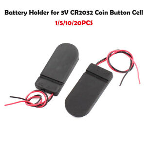 5x DIY CR2032 3V Button Coin Cell Battery Holder Case Box With On-Off Switch  Z