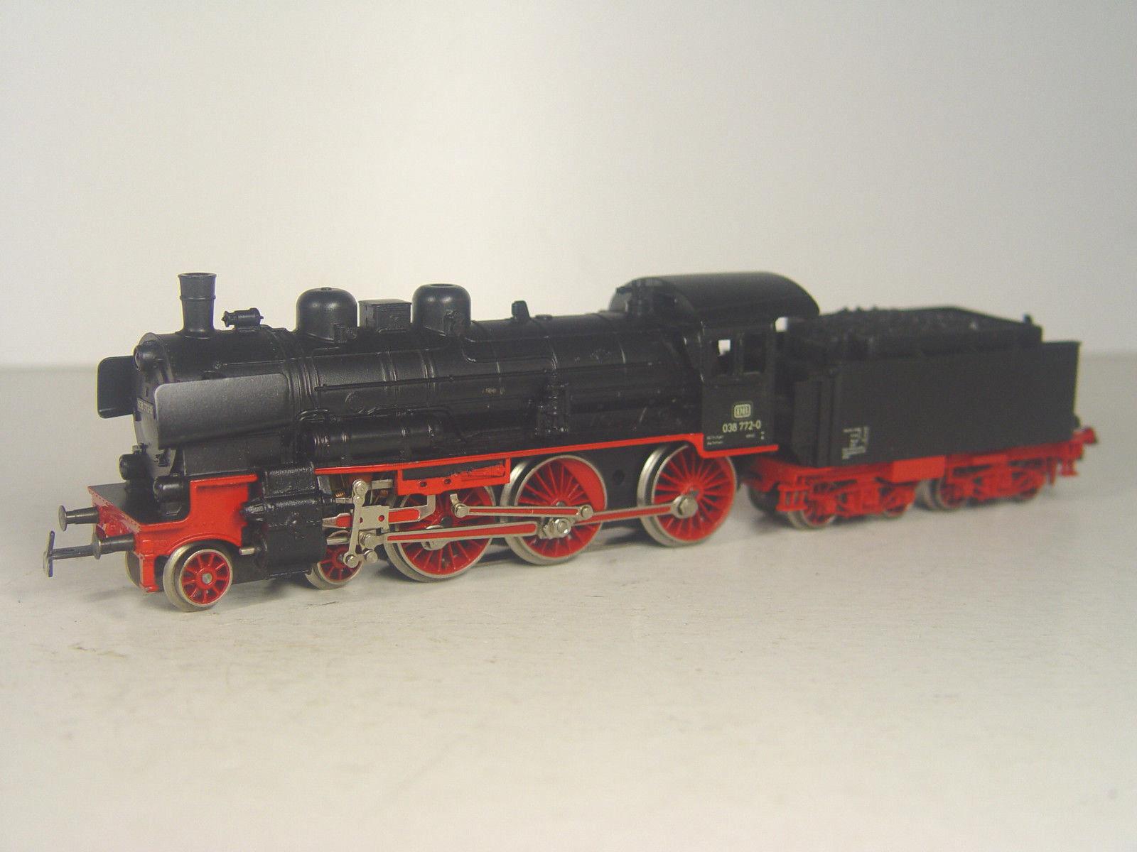 DB máquina de vapor br. 038-Märklin ho Lok 3099 - e-Gebr.
