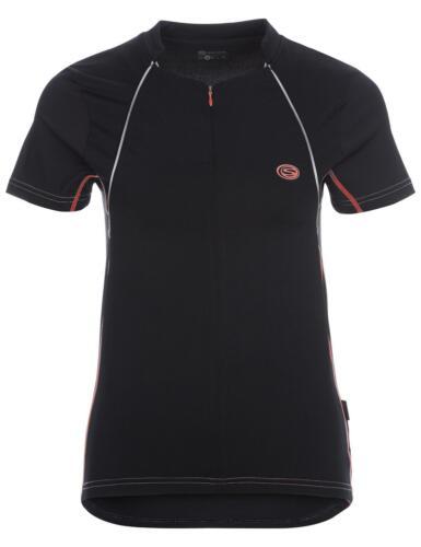 Damen Kurzarm Laufshirt in schwarz//dubarry
