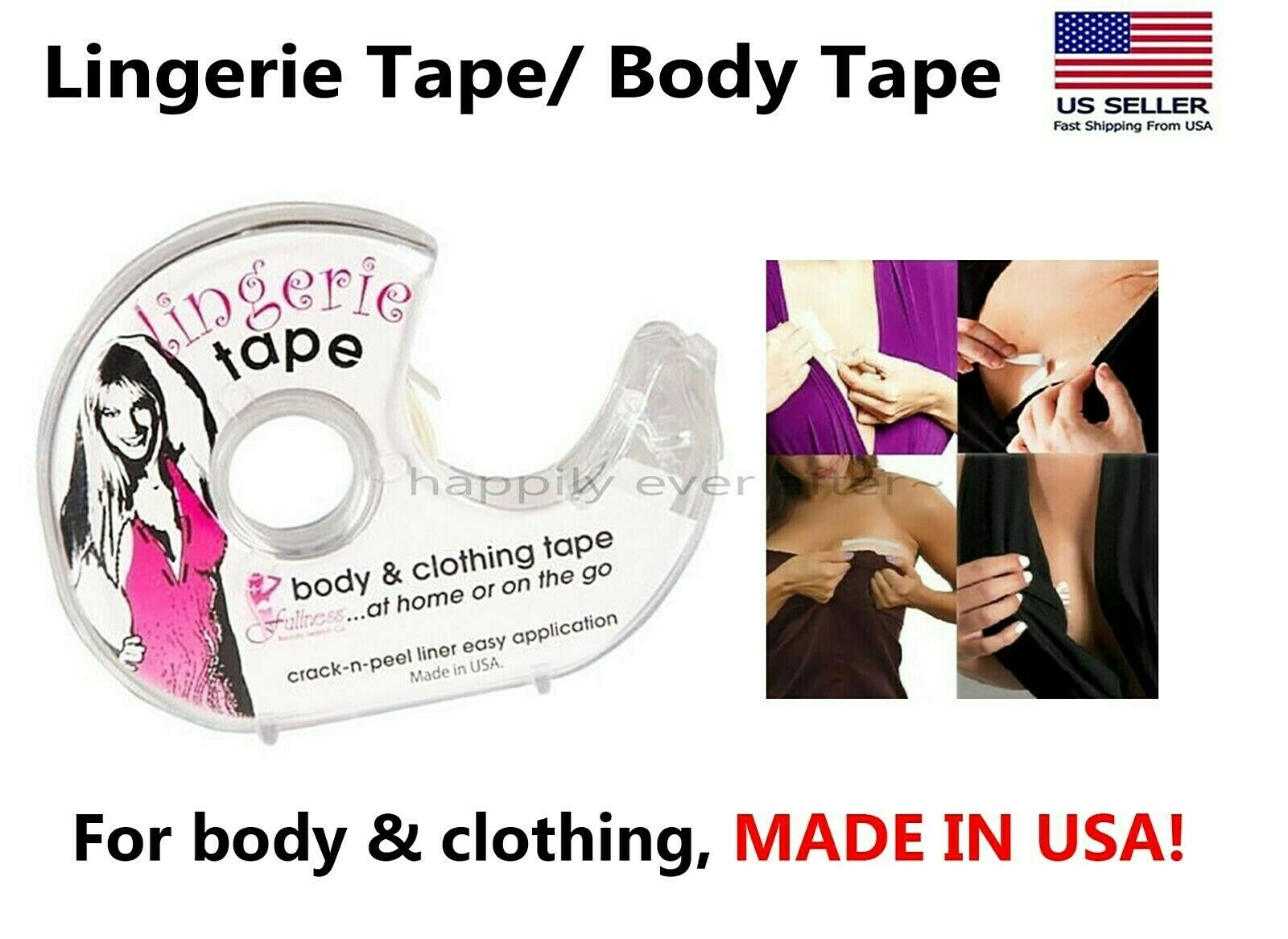 Double Sided Body and Clothing Tape by Linda/'s Essentials Clear Transparent Tape for Clothes /& Body Suitable for All Fabric Types and Sensitive Skin 60 Pack Extra Adhesive Friction Tape