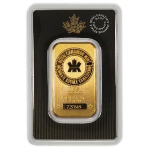 1-oz-RCM-Royal-Canadian-Mint-Gold-Bar-9999-Fine-Sealed-In-Assay