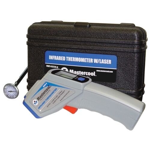 """Infrared Thermometer in Case with FREE MSC52220 1/"""" Analog Thermometer New!"""