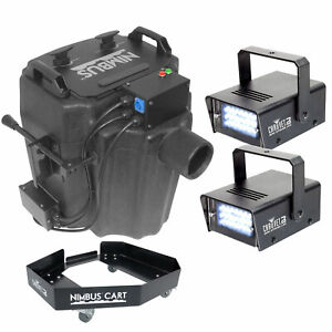 Strobe Lights W/ Sound Sensors Chauvet Dj Cumulus Fog Machine Fogger W/ Case+ 2