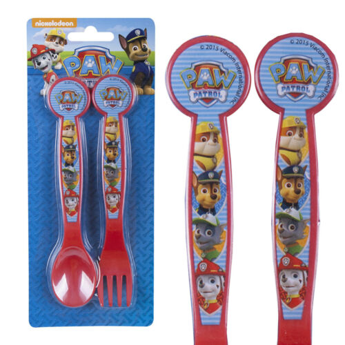 Plastic Picnic Lunch Dinner Spoon & Fork Cutlery Set - Nickelodeon Paw Patrol