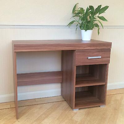 Walnut Effect Dressing Table - 1 Drawer & Shelf - Vanity Unit or Small Desk