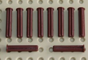 NEW!!! Lego 10x Technic Reddish Brown Axle 3L with Stop 24316