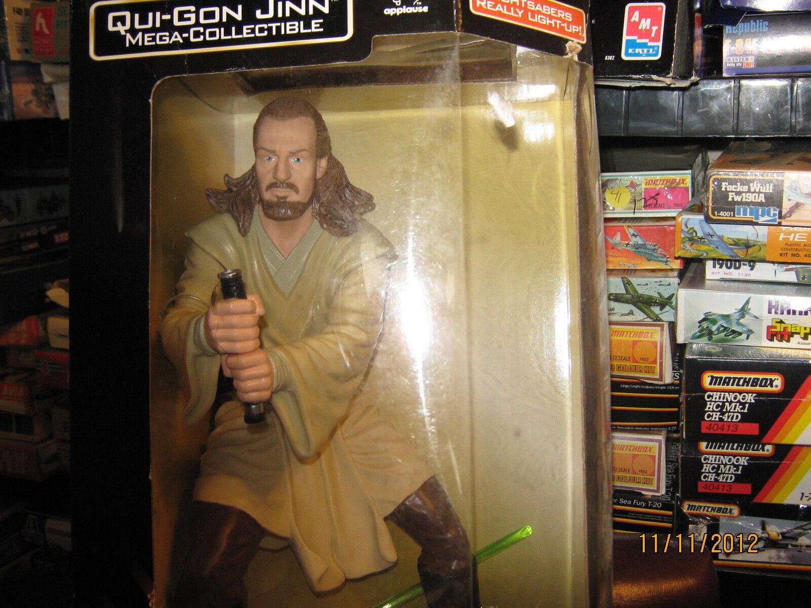 Star Star Star Wars Qui-Gon Jinn-Mega Collectible-12 Inch Figure-FREE SHIPPING 14c5e3