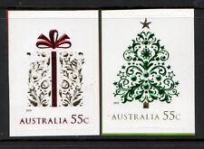 AUSTRALIA 2013 CHRISTMAS SELF ADHESIVE WITH EMBELLISHMENTS SET OF 2 UNMOUNTED MT