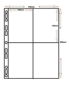 10 x MM 4 POCKET POLAROID SX70 & 600 POLYPROPYLENE A4 ALBUM PAGE / SLEEVES