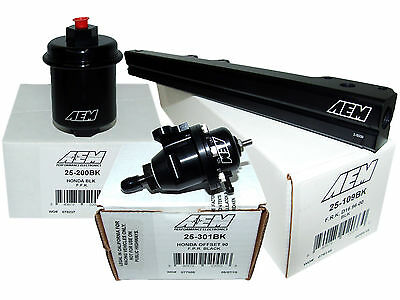 AEM Adj Pressure Regulator High Volume Fuel Rail  for Honda H22A1 H22A4 H23A1