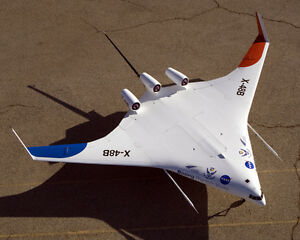 BOEING-X-48B-BLENDED-WING-BODY-AIRCRAFT-8X10-PHOTO-NASA