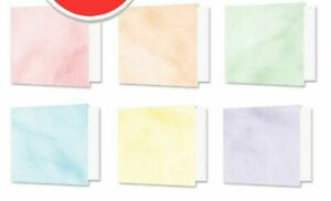 6-Simple-Plegables-Cepillado-Pasteles-17-8cm-x-12-7cm-Hunkydory-Tarjeta-Y-Envs