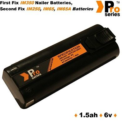 6v NiMH A10 2 x batteries for IM350 Paslode Cordless nailer