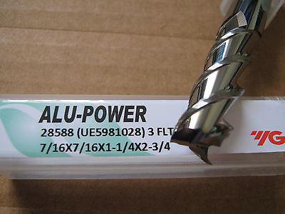 "5 PC 3//8/""x1 1//2/""LOCx3 1//2/"" OAL YG-1 ALU-POWER 3 Flute Carbide End Mill ALUM/""NEW/"""
